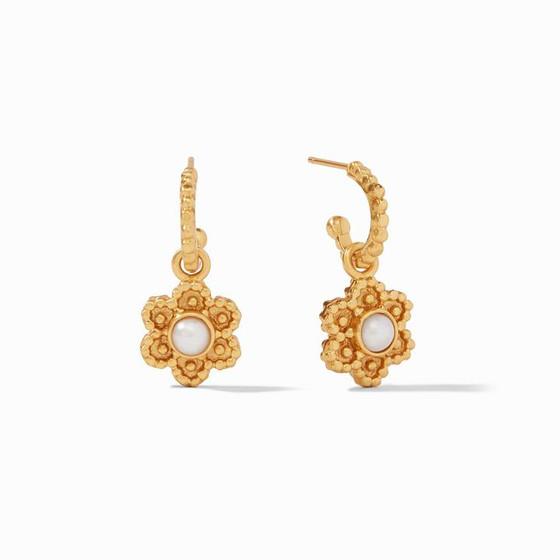 Colette Hoop & Charm Earring Pearl