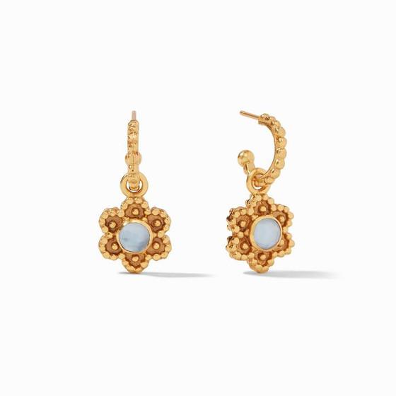 Colette Hoop & Charm Earring Chalcedony Blue