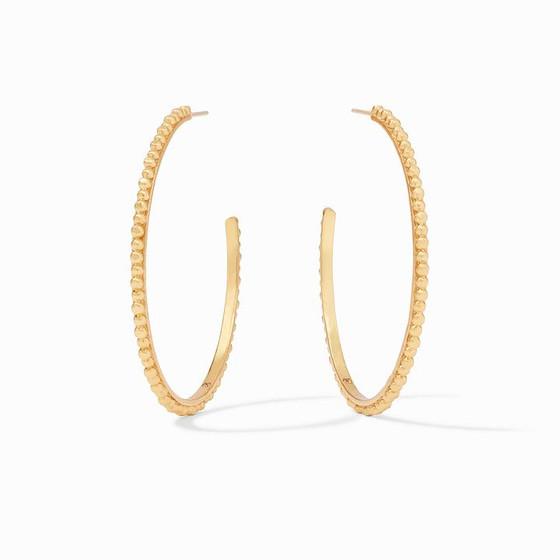 Colette Bead Hoop Earring Gold - XL
