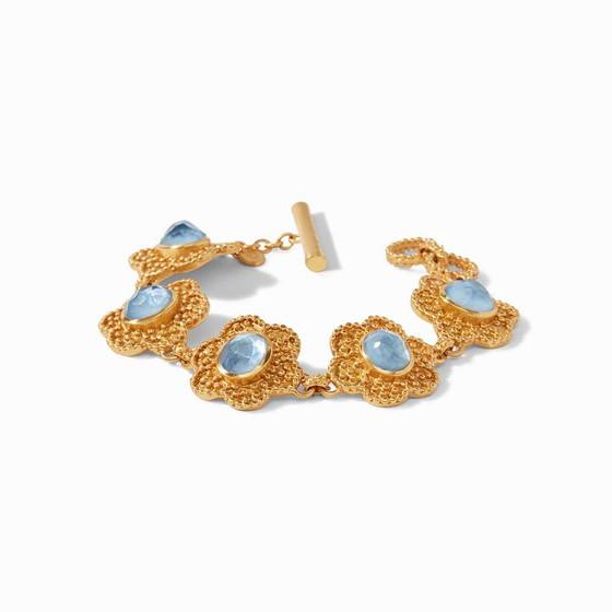 Colette Bracelet Gold Chalcedony Blue
