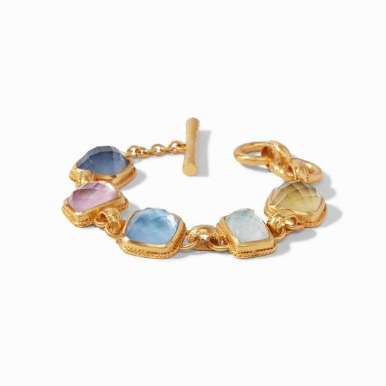 Savoy Demi Bracelet Gold Iridescent Multi Stone