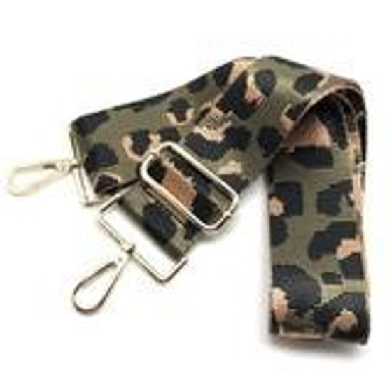 Canvas Strap - Leopard Olive
