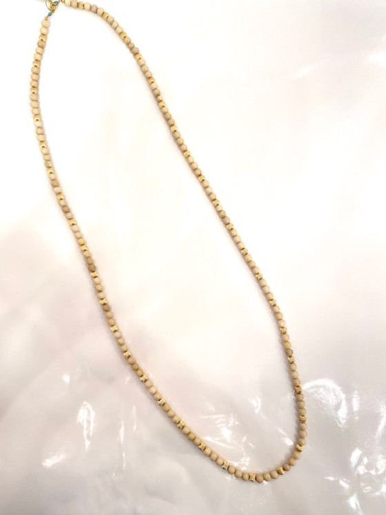 """39"""" Necklace Riverstone 6mm Bead"""