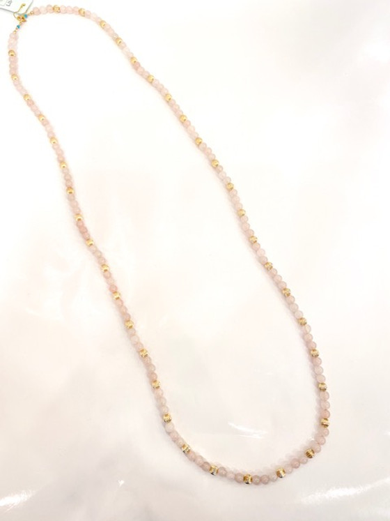 """39"""" Necklace Rose 6mm Bead"""