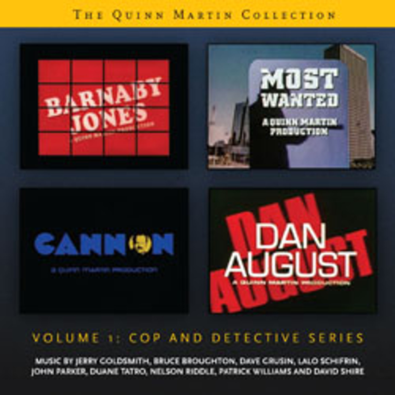 THE QUINN MARTIN COLLECTION – VOLUME 1: COP AND DETECTIVE SERIES – LIMITED  EDITION (2-CD SET)