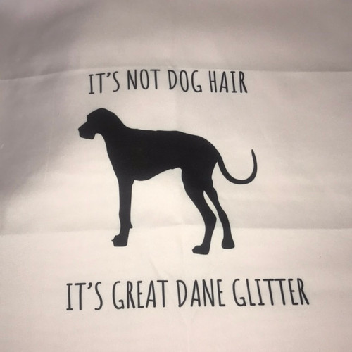 Great Dane Pillow with zipper and stuffing insert with filling.
