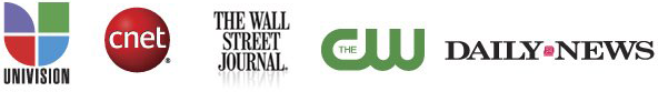 univision cnet the wall street journal the c w dail news news agencie logos