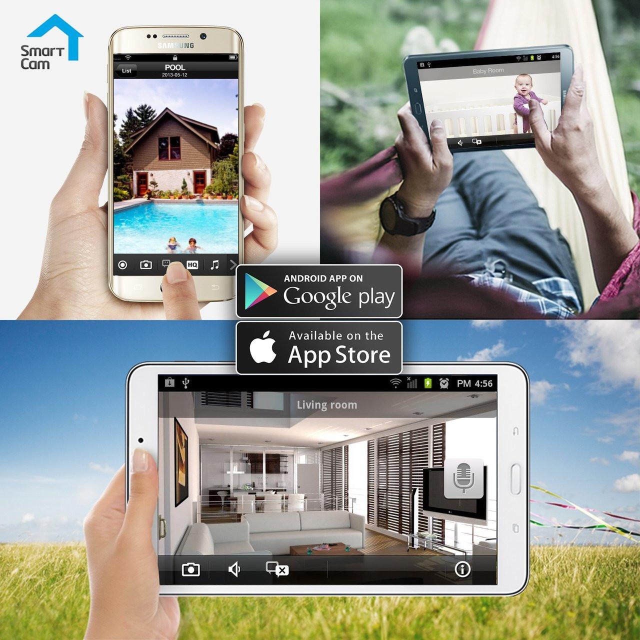 SmartCam 1080p Full HD WiFi Camera by Samsung - Security Camera