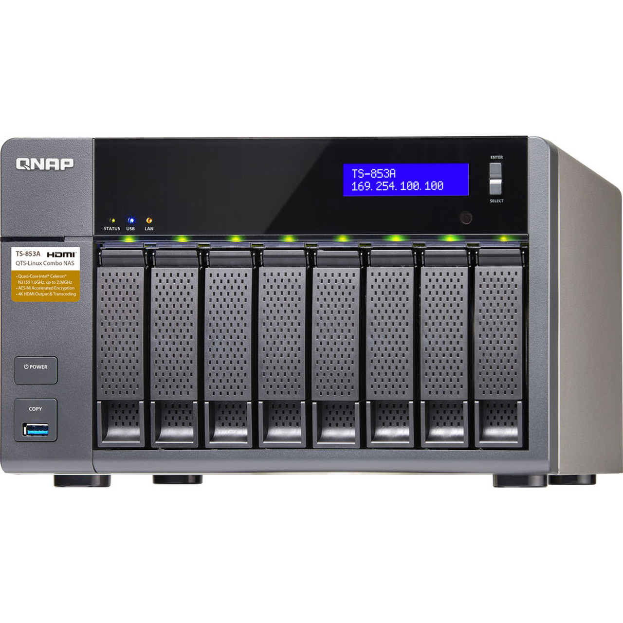QNAP 8-Bay QTS-Linux Private NAS and IoT Applications