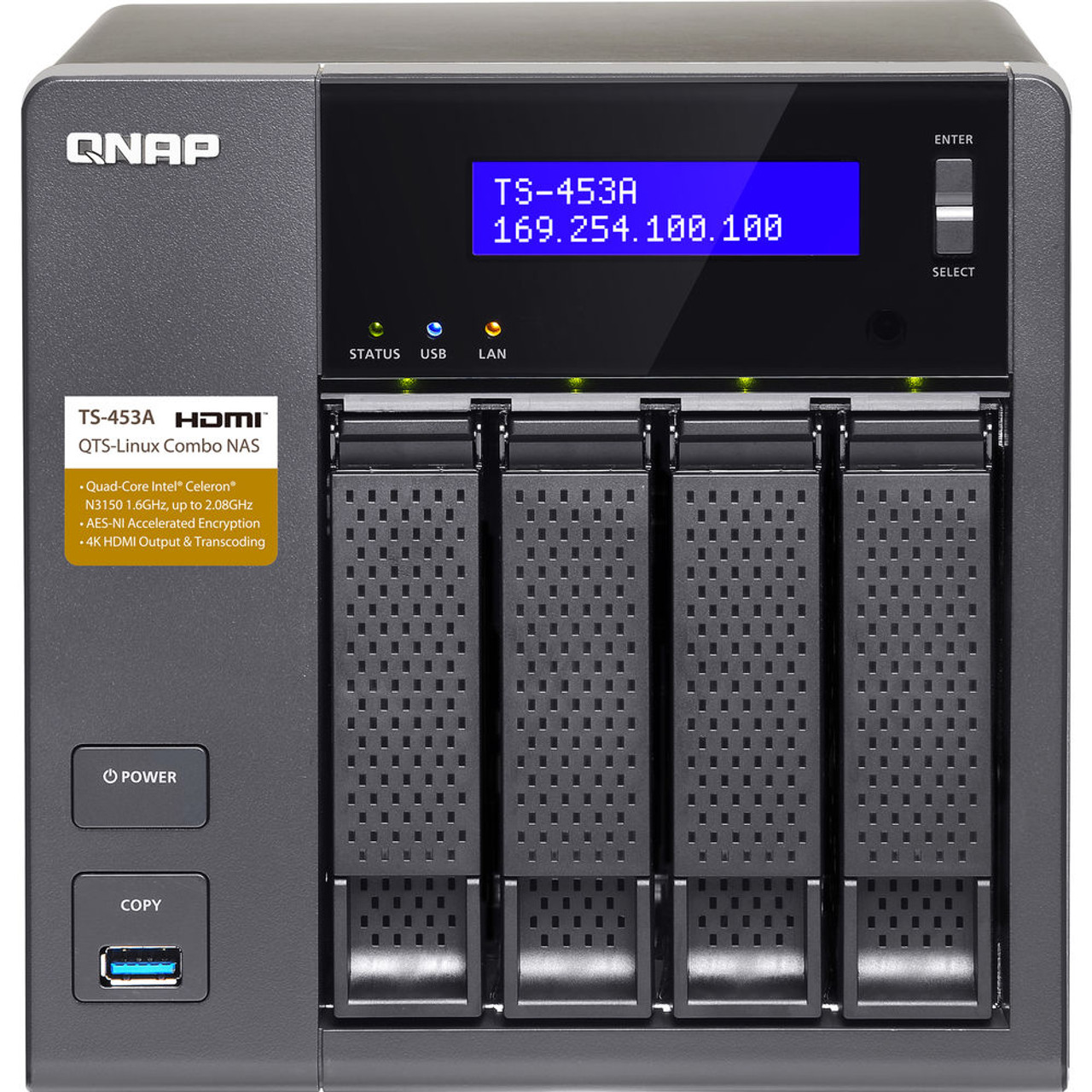 QNAP 4-Bay QTS-Linux Private NAS and IoT Applications