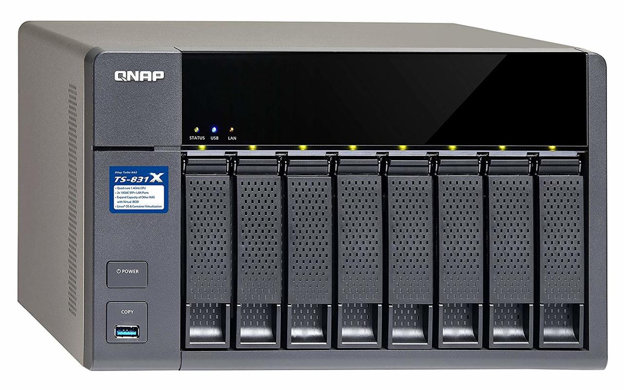 QNAP High-Performance 8-bay NAS with Built-in 2 x 10GbE (SFP+) Network  (16GB RAM Version)