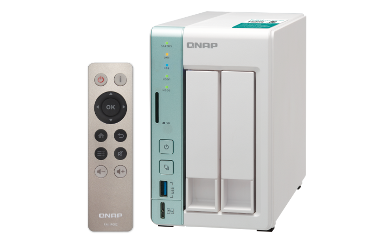QNAP 2-Bay Personal Cloud NAS/DAS with USB direct access (4GB RAM version)