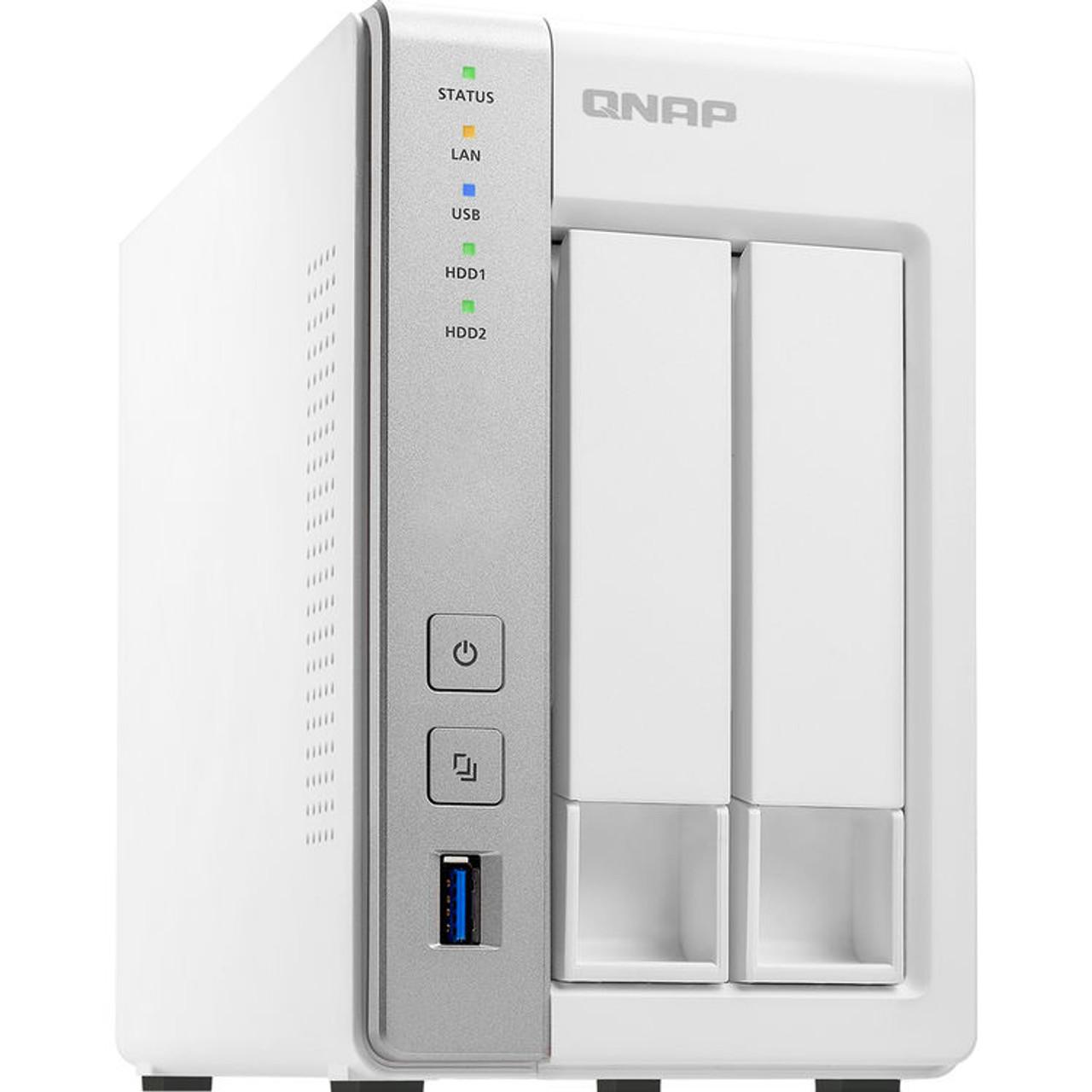 QNAP 2-Bay Personal Cloud NAS file sharing and backup with DLNA