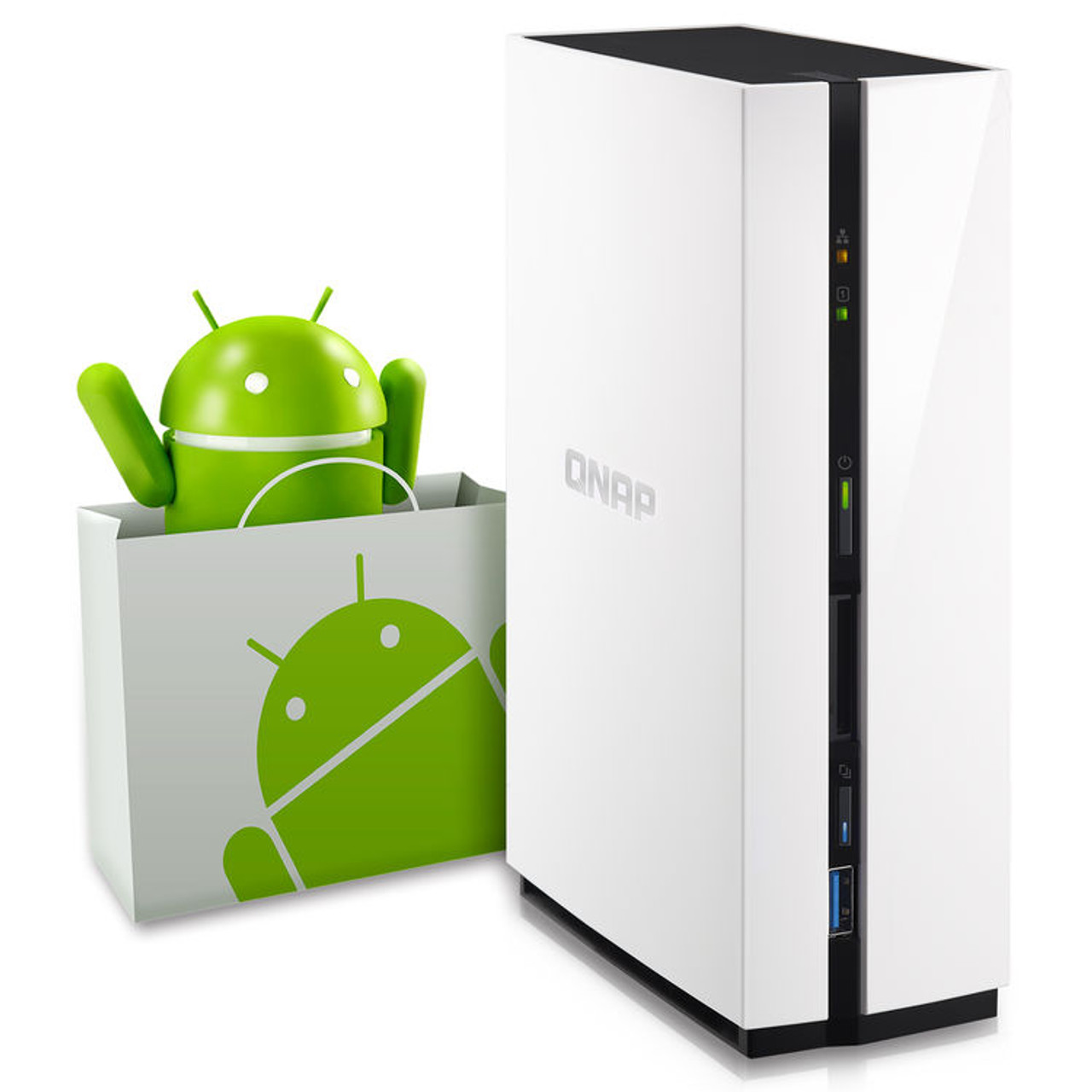 QNAP 1-Bay Personal Cloud NAS QTS and Android with DLNA