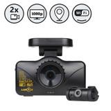 Lukas Dual Lens Dash Camera With WiFi And GPS (8GB+8GB)