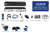 8-Channel MPX HD 1TB DVR with 4 Weatherproof IR Cameras