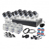16-Channel 1080p DVR with 2TB HD & 12 Bullet Cameras