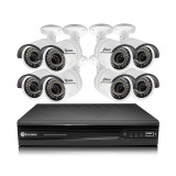 8-Channel 1080p NVR with 8 NHD-818 Cameras