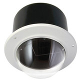 "7"" Outdoor Vandal Resistant Flush Mount Enclosure with H/B (SNC-EP/ER/W series Indoor PTZ cameras) Clear Dome"
