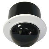 "7"" Outdoor Vandal Resistant Flush Mount Enclosure with H/B (SNC-EP/ER/W series indoor PTZ cameras) Tinted dome"