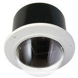 "7"" Outdoor Vandal Resistant Flush Mount Enclosure with H/B (SNC-RZ50N & SNC-RZ30N) Clear Dome"