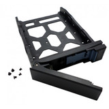 """HDD Tray for 3.5"""" and 2.5"""" drives without key lock, black, plastic with 6 x screws for 2.5"""" HDD, tooless"""