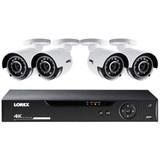 8-Ch 4K HD 1TB DVR w/Four 4K Bullet Security Cameras