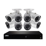 4K Ultra HD 16-Ch NVR 3TB & (8) HD Bullet Security Cams
