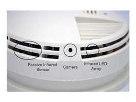SG Home AC Smoke Detector Cam w/Cloud Recording
