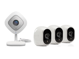 Arlo HD Security System with 3 Wire-Free Cameras & 1 Q Camera