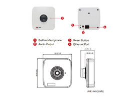 ACTi E11 Square Style Fixed Lens Network Camera