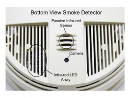 SG Home Battery Operated Smoke Detector w/Cloud Recording