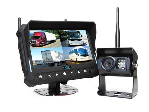"""7"""" Wireless Monitor for Vehicles with Built-in DVR 4 Camera System"""