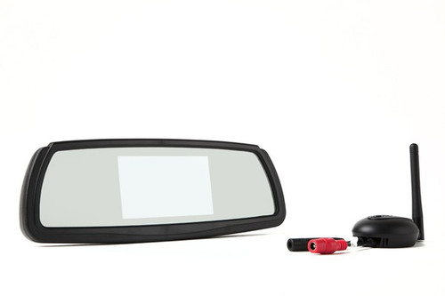 Wireless Backup Camera System With Mirror Monitor