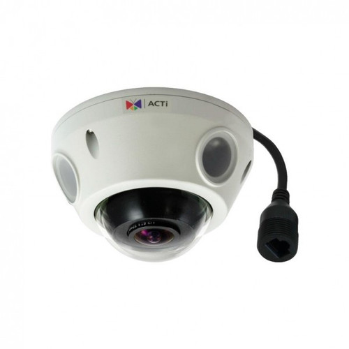 10MP Outdoor Mini Fisheye Dome with D/N, Adaptive IR, Basic WDR, Fixed lens