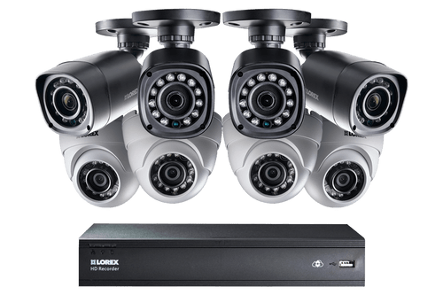 16-Channel HD 1TB DVR with 4 Bullet/4 Dome HD Cameras