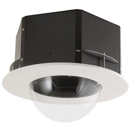 "7"" Indoor Flush Mount Clear Housing for PTZ or Rapid Dome Indoor Cameras"