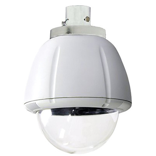 "7"" Indoor Vandal Resistant Housing, Pendant Mount for SNC-RZ Series (power included) Clear Dome"