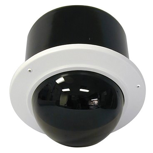 """7"""" Outdoor Vandal Resistant Flush Mount Enclosure with H/B (SNC-EP/ER/W series indoor PTZ cameras) Tinted dome"""