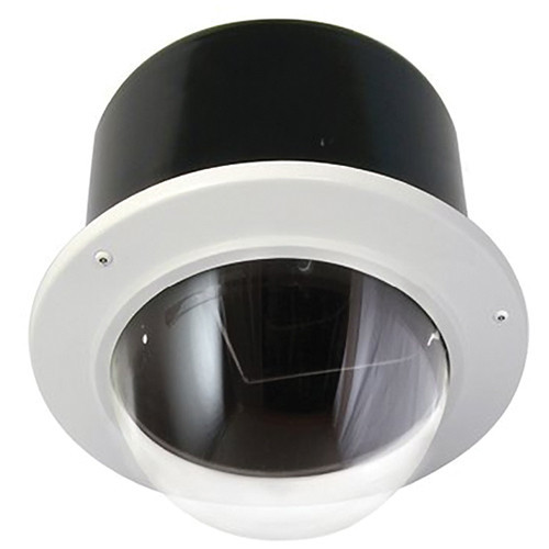 "7"" Outdoor Vandal Resistant Flush Mount Enclosure with H/B (SNC-RZ50N & SNC-RZ30N) Clear Dome"