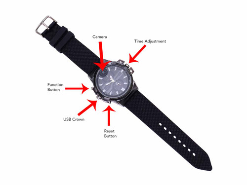 Covert Camera Watch Featuring 2k HD Video
