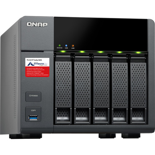QNAP ARM-based NAS with Hardware Encryption 10GbE support (8GB RAM version)