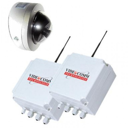 2.4GHz Digital FHSS Wireless Vandal Proof Mini IR Dome Elevator Video System - Up to 200 Floors