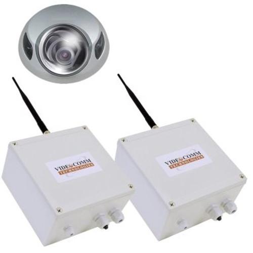 2.4GHz Digital FHSS Wireless Vandal Proof Mini IR Dome Elevator Video System - Up to 200 Floors