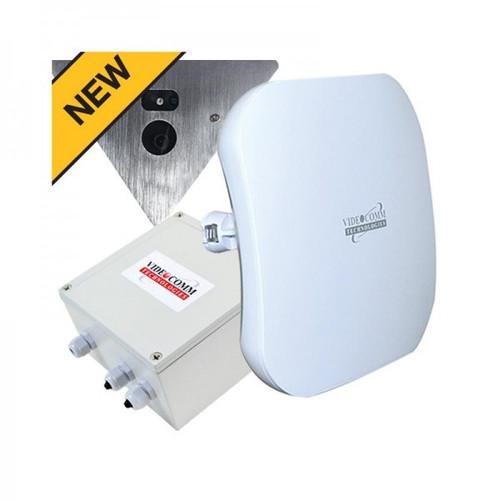 5.8GHz Digital Wireless HD-TVI 1080p Corner Mount Elevator Camera System, Range 200 Floors