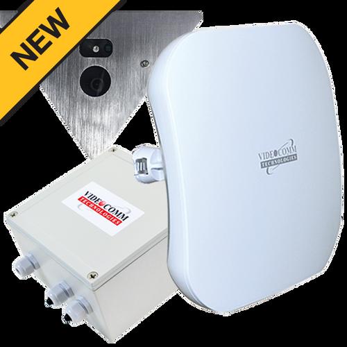 5.8GHz Digital Wireless AHD 1080p Corner Mount Elevator Camera System, Range 200 Floors