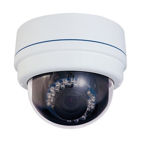 2MP Outdoor IR-50' Range - 2.8-12mm Varifocal Network Dome Camera + PoE