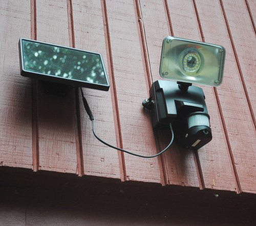 Solar-Powered Video Camera and Floodlight