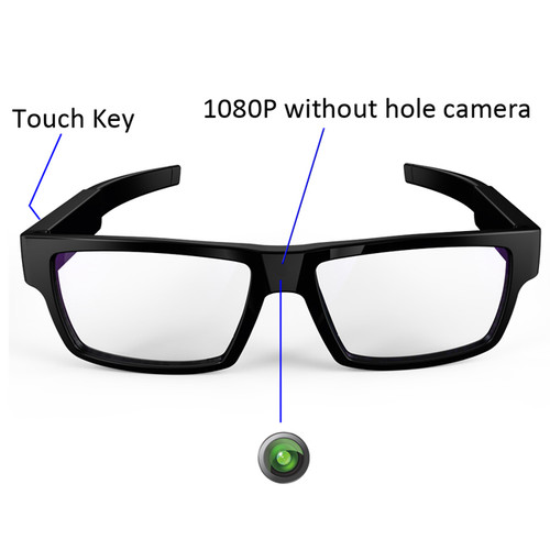 Hidden Camera Glasses with One-Touch Recording