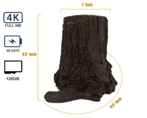 Xtreme Life 4K Tree Stump Hidden Camera
